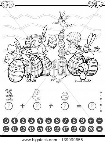 Maths Task Coloring Book
