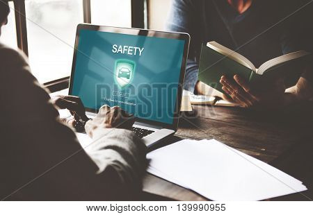 Safety Privacy Policy Protection Shield Private Concept