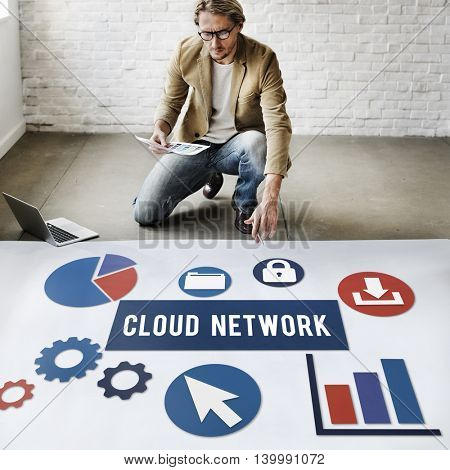 Cloud Network Technology Connection Concept