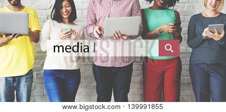 Media Communication Internet Interface Technology Concept