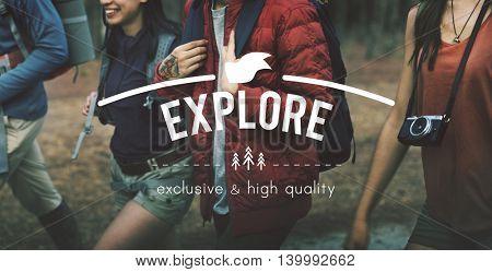 Explore Adventure Traveling Exploration Journey Concept