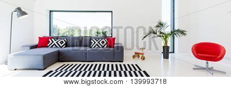 Living Room With Geometrical Shapes
