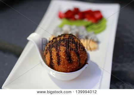 Fried Ice Cream With Fruit.