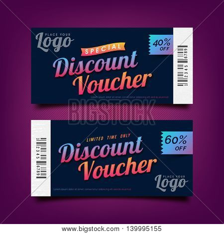 Special Discount Voucher, Gift Card or Coupon design template with space, Creative vector illustration.