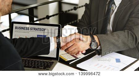 Business Meeting Handshake Agreement Concept