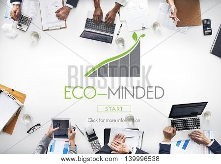 Global Business Eco Minded Concept