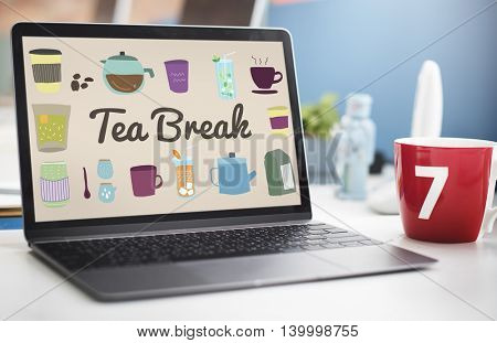 Tea Break Beverage Cafe Drink Relaxation Concept