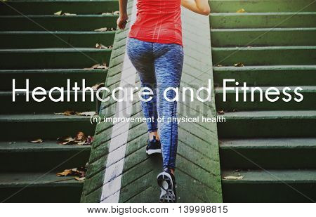 Healthcare And Fitness Outdoors People Graphic Concept