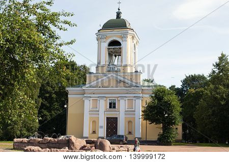 Vyborg, Russia - July 20, 2016: Cathedral Of Saints Peter And Paul