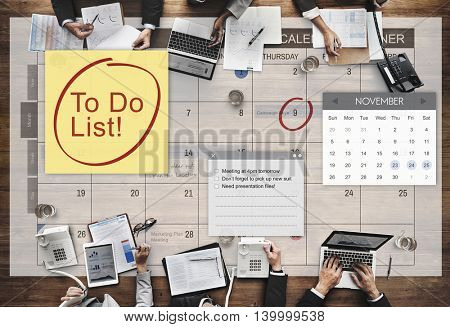 To Do List Schedule Calender Planner Organization Concept