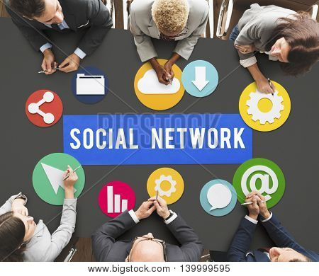Social Media Network Internet Connection Concept