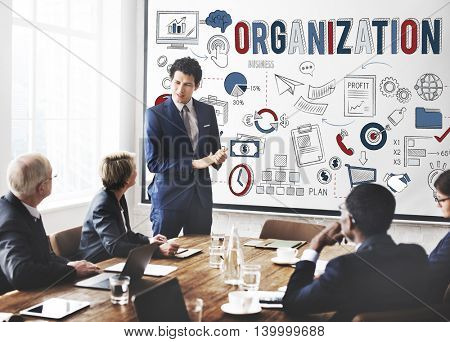 Organization Company Corporate Management Concept