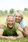 Постер, плакат: Пожилые пары веселиться в сельской местности