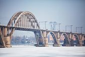 image of dnepropetrovsk  - Bridge in Dnepropetrovsk - JPG
