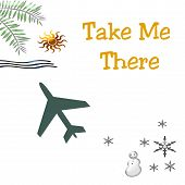 pic of snowbird  - take me there tropical vacation poster or postcard - JPG