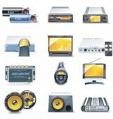 image of subwoofer  - Vector car stereo systems icons - JPG