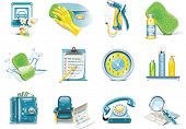 stock photo of car wash  - Vector car wash service icon set - JPG