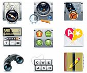 stock photo of poi  - Vector GPS navigation icons - JPG