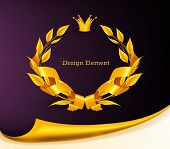 Designelement Emblem gold eps10