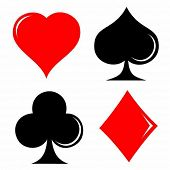 picture of playing card  - Vector illustration of card symbol - JPG