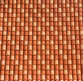foto of red roof tile  - Typical tiled red roof in Dubrovnik city - JPG