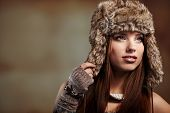 beautiful Woman in Wintermantel.