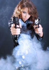 foto of girls guns  - Sexy gangster girl - JPG