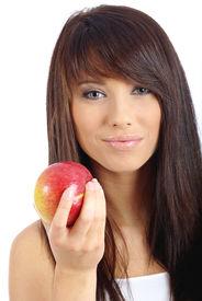 image of healthy eating girl  - Healthy Eating Woman - JPG