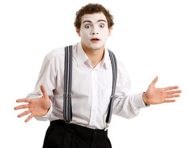 picture of pantomime  - Portrait of an actor playing a pantomime - JPG