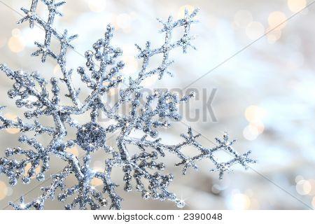 Copo de nieve azul plata