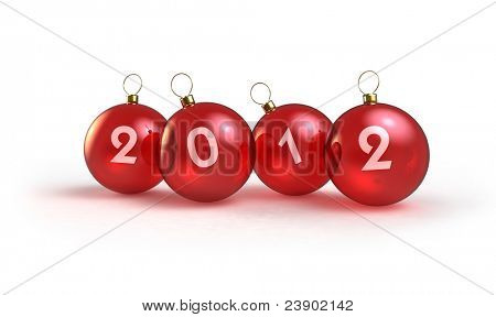 red balls decoration at 2012 new year