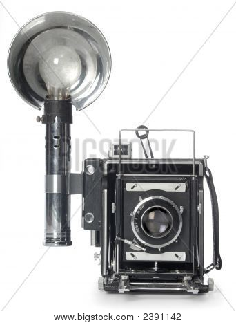 Retro Flash Camera Front View