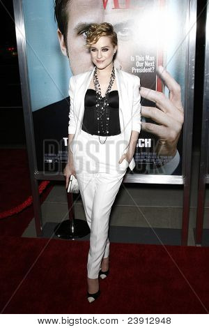 LOS ANGELES - 27 de SEPT: Evan Rachel Wood al llegar a la