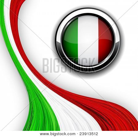 Vector illustration of national Italian flag.