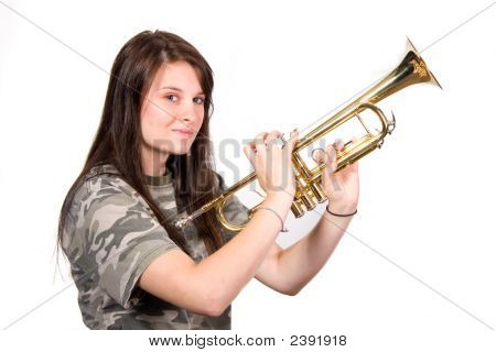 Teenager With Trumpet