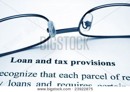 Loan And Tax Provisions