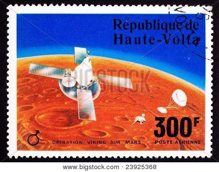 Upper Volta Postage Stamp Viking Space Explorer Ship Lander Mars