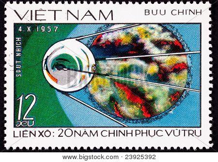 Stamp Soviet Sputnik Space Explorer Probe Launch
