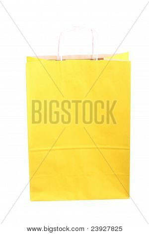 Shopping Yellow Gift Bags
