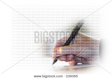 Signatur Kleingedruckte