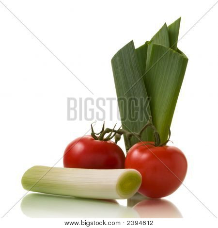 Leek And Tomatoes