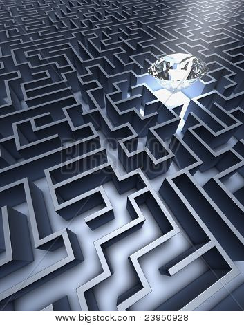 Labyrinth and diamond