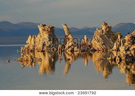 Tufa Reflections Mono Lake
