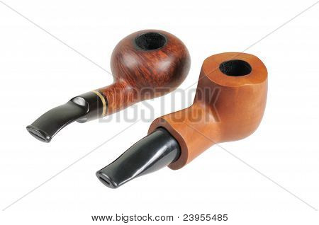 Smoking pipes from briar and pears