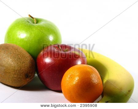 Bunch Of Fruits Isolated