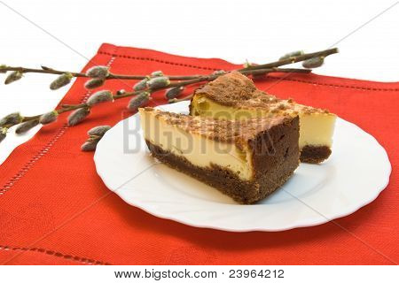 Two Pieces Of Cheesecake