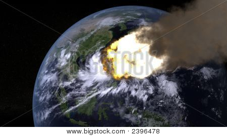 Asteroid Attacks The World