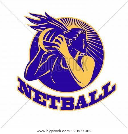 Netball Player Holding Passing Ball