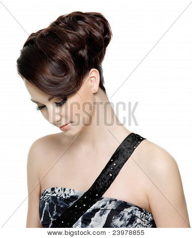 Woman With Modern Fashion Hairstyle