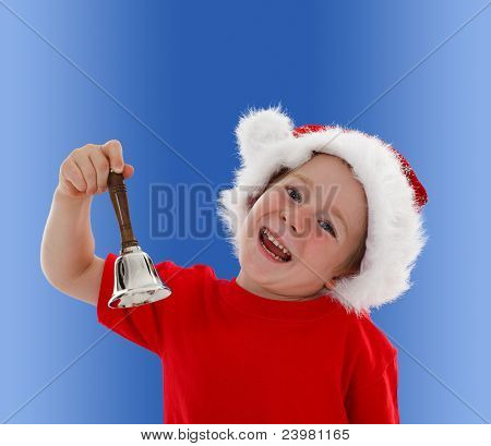 Happy Child Ringing Hand Bell